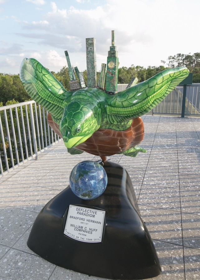 William C. Huff donates turtle sculpture to Rookery Bay Reserve