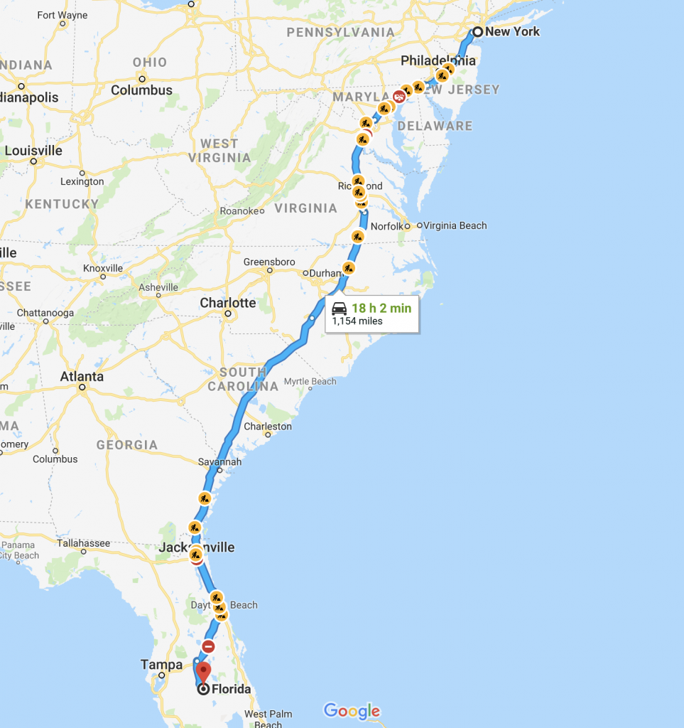 moving from New York to florida