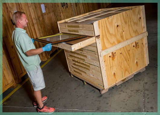 fine art handling and storage in a climate controlled facility | William C. Huff Companies - Moving & Storage